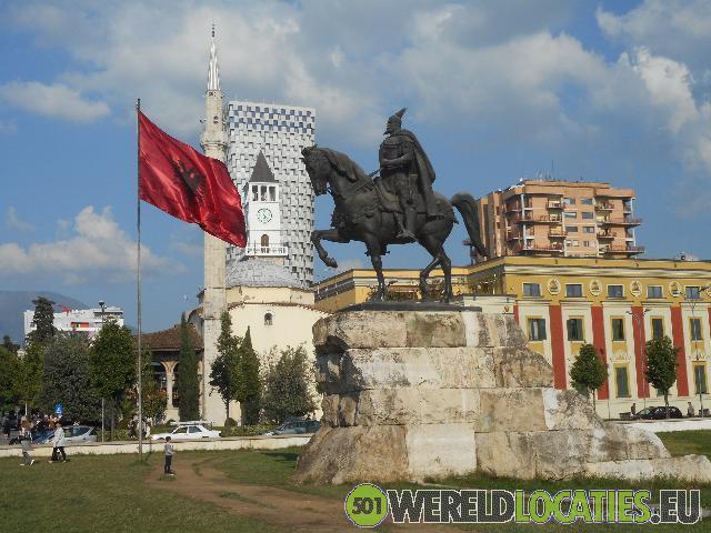Albanië - Het centrale plein van Tirana