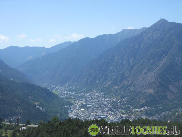 De hoofdstad Andorra la Vella