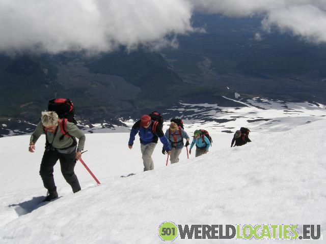 Beklimming van de Villarica vulkaan