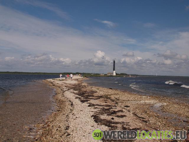 De vuurtoren van Saare op het eiland Saaremaa