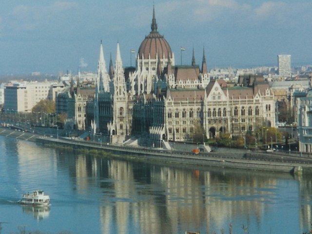 Langs de Donau in Boedapest