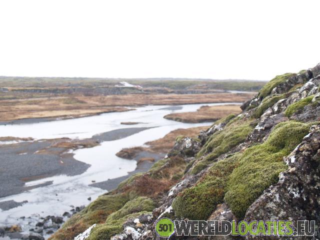 De Thnigvellir parlementsvlakte van IJsland