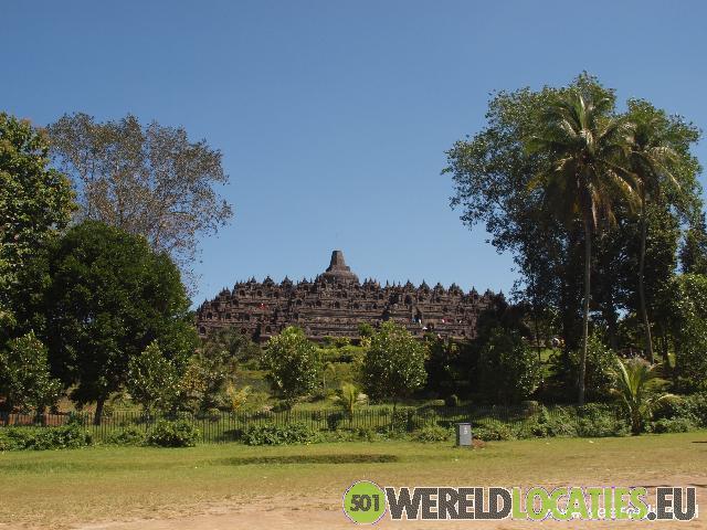 Indonesië - Op de Borobudur