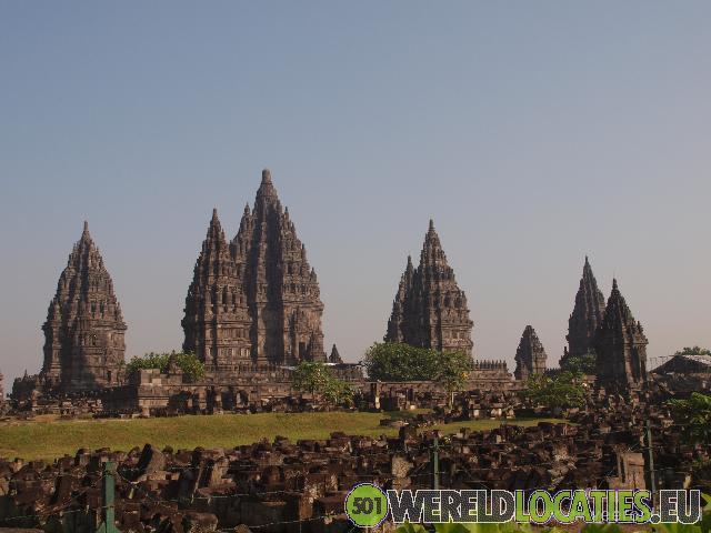 De Prambanan Temple nabij Yogyakarta