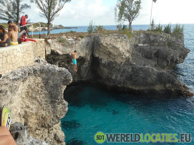 Jamaica - Cliffspringer bij Rick s Café in Negril