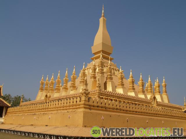 De hoofdstad van Laos: Vientiane