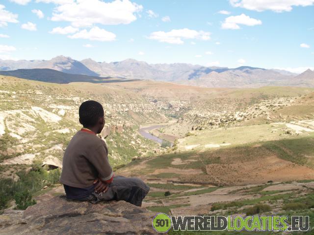Lesotho - San rotstekeningen van Malealea
