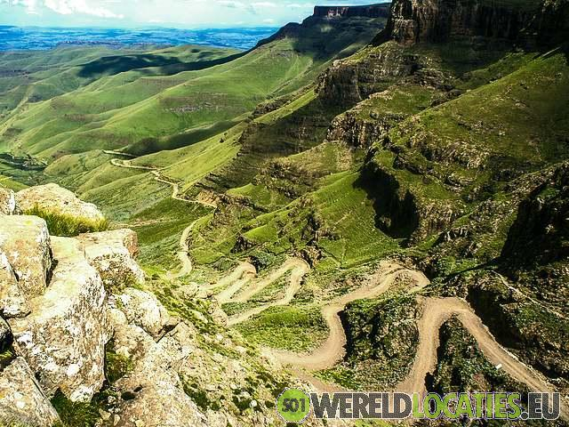 Lesotho - Sani pass en uitzicht vanaf de Sani top