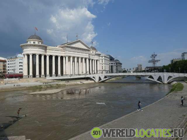 De Macedonische hoofdstad Skopje