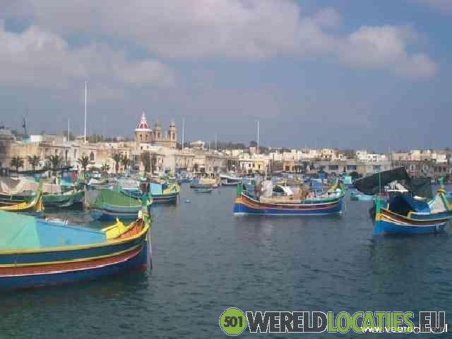 Kleurrijke havenvan Marsaxlokk