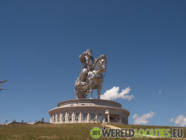 Het Genghis Khan ruiterbeeld