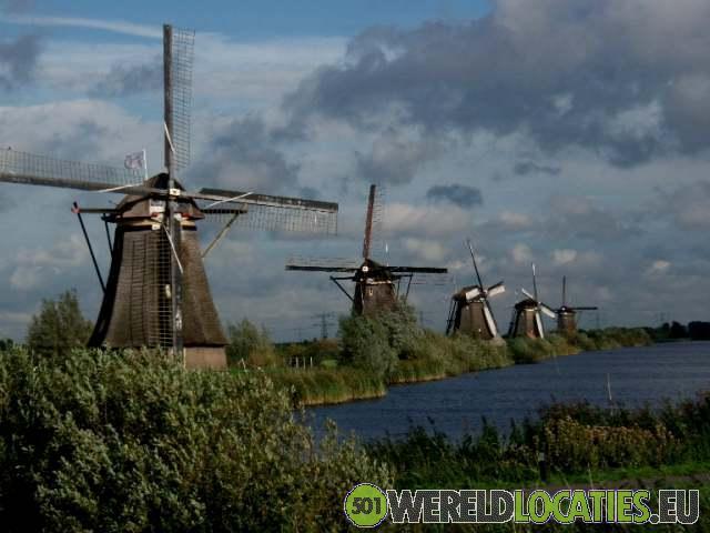 Nederland - De molens van Kinderdijk