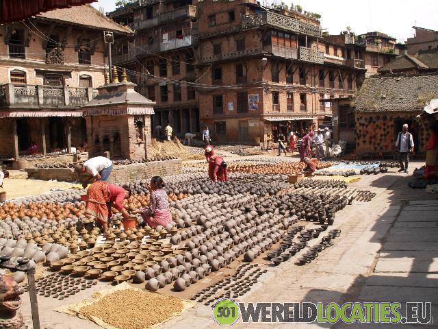 De koningstad Bhaktapur