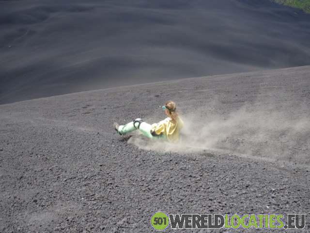 Nicaragua - Glijden van Cerro Negro