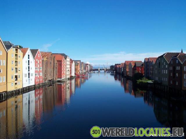 Noorwegen - Houten handelshuizen van Trondheim