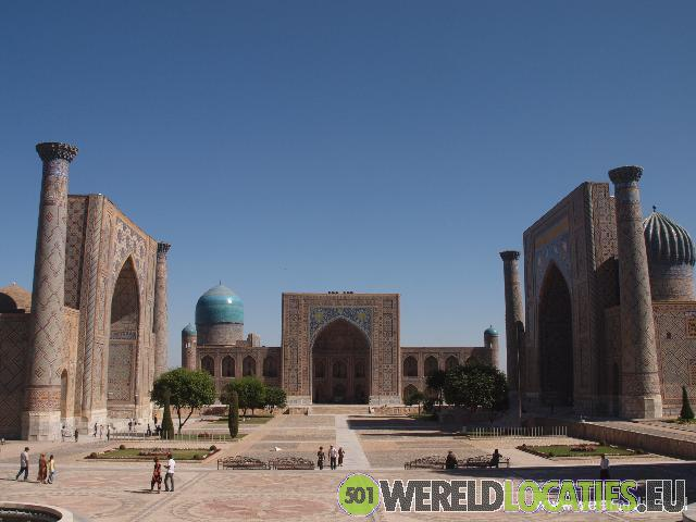 Oezbekistan - Samarkand Registan plein