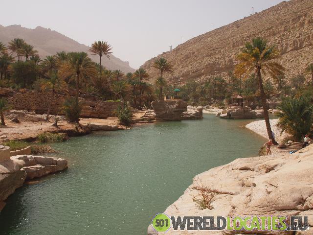 De Wadi Bani Khalid Oase