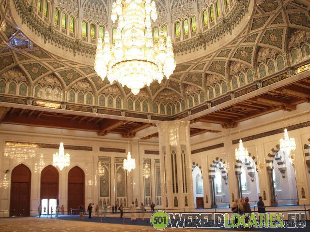Oman - Sultan Qaboos Moskee in Muscat