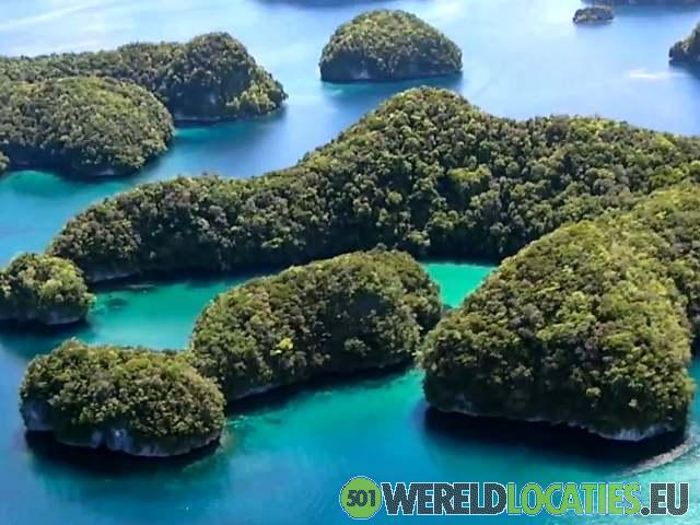 Zuidelijke Lagune van de Rock Islands