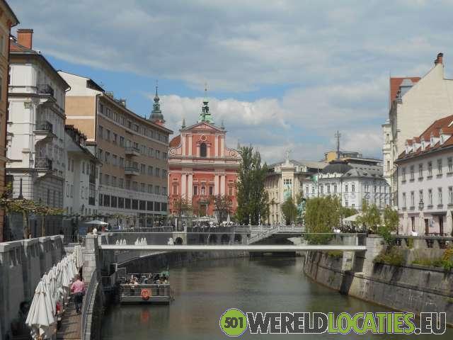 De Sloveense hoofdstad Lubjanana