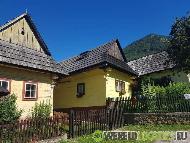 De houten huizen van Vlkolínec