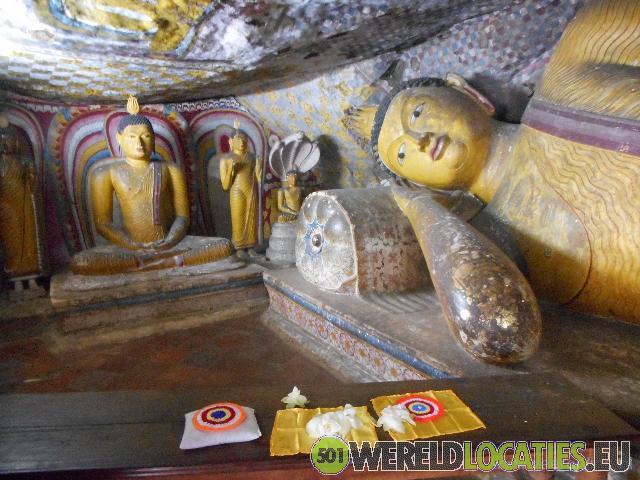 De rotstempels van Dambulla