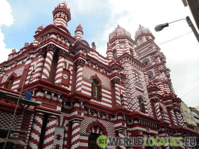 Sri Lanka - De Jami Ul-Aflar moskee in Colombo