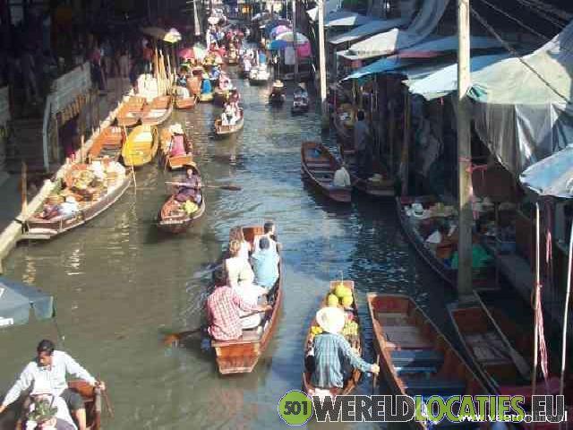 Floating Market van Thailand