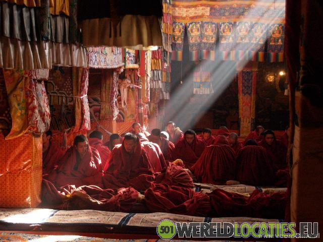Het klooster van Ganden