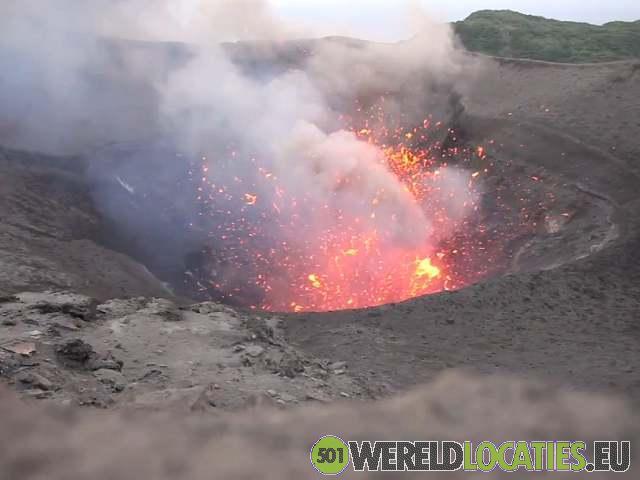 De vulkaan Mount Yasur