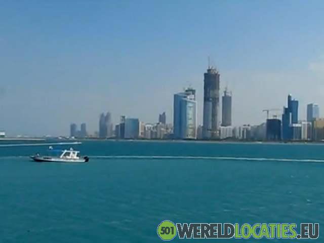De skyline van Abu Dhabi