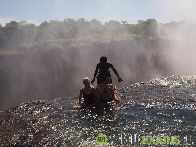 Zambia - Devil's Pool op Livingstone Island